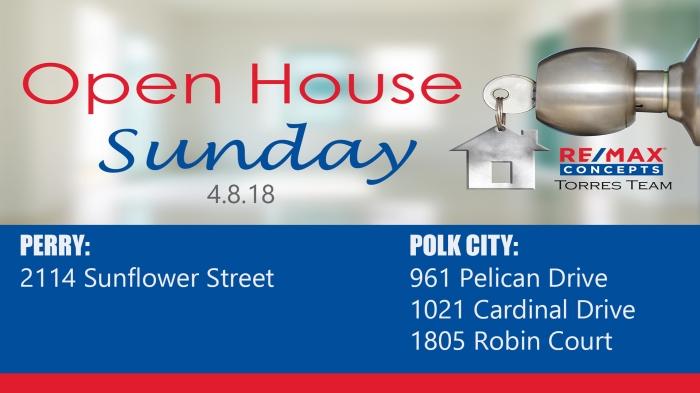 open house 4.8.18